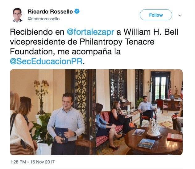 Tweet de Rosselló