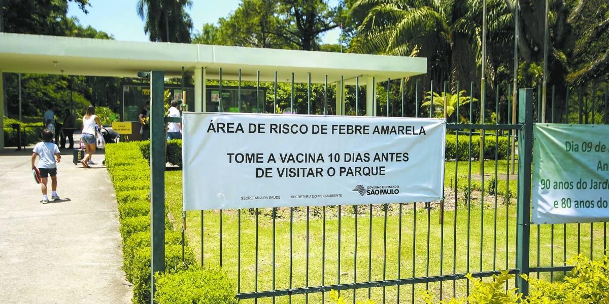 Zoológico e Jardim Botânico de SP recomendam vacina contra febre amarela antes de visita