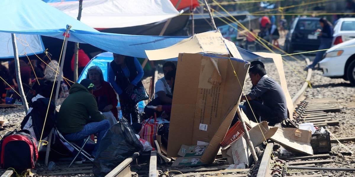 CNTE libera vías del tren en Uruapan tras 28 días de bloqueo