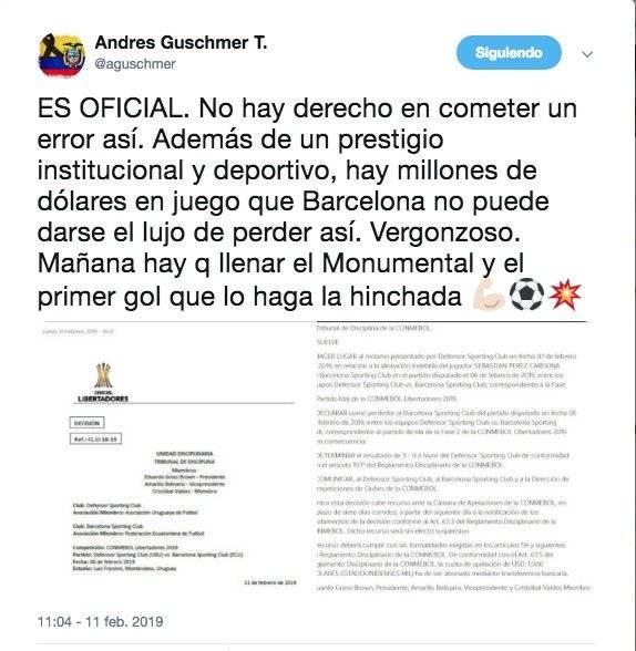 Andrés Guschmer twitter