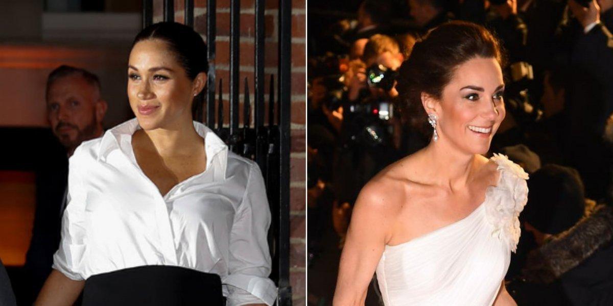 2fca48ac0 Simplicidade e gala  Looks totalmente diferentes de Meghan Markle e Kate  Middleton arrasam em eventos