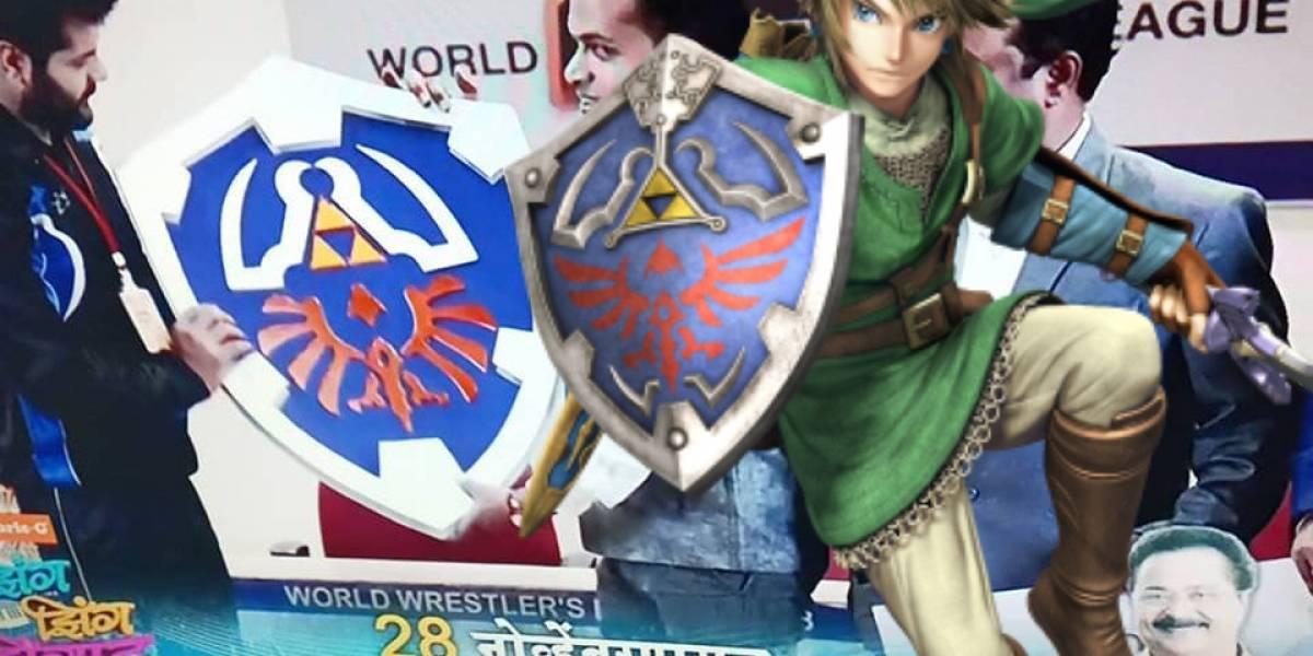 Novela de la India usa el escudo de The Legend of Zelda como trofeo de lucha libre