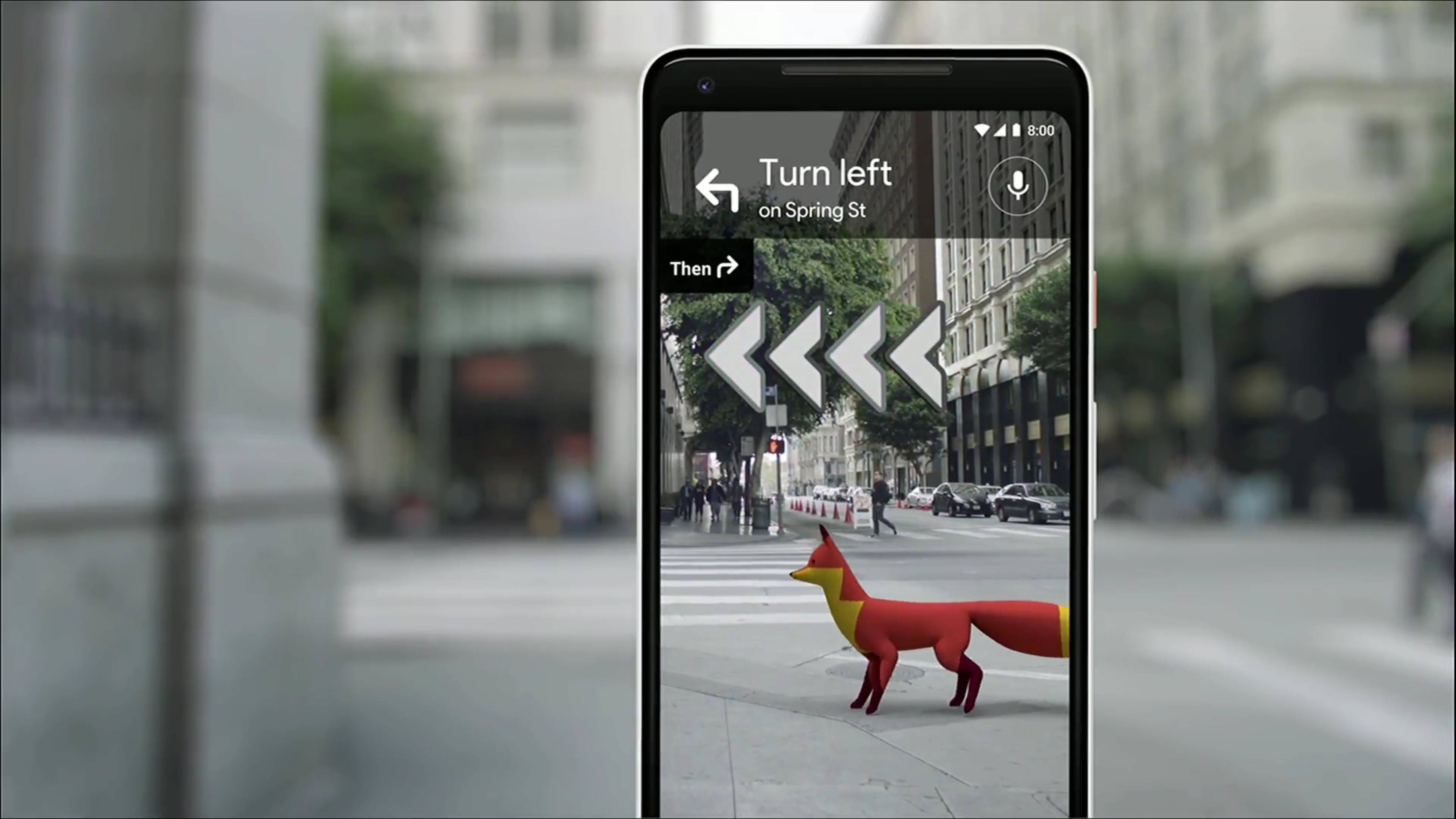 Google Maps ya estaría probando su función de realidad aumentada con algunos usuarios