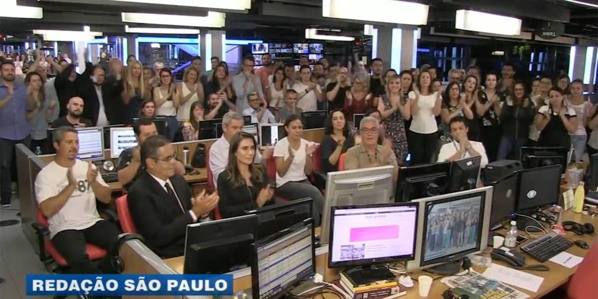 VÍDEO: Jornalistas do Grupo Bandeirantes homenageiam Ricardo Boechat