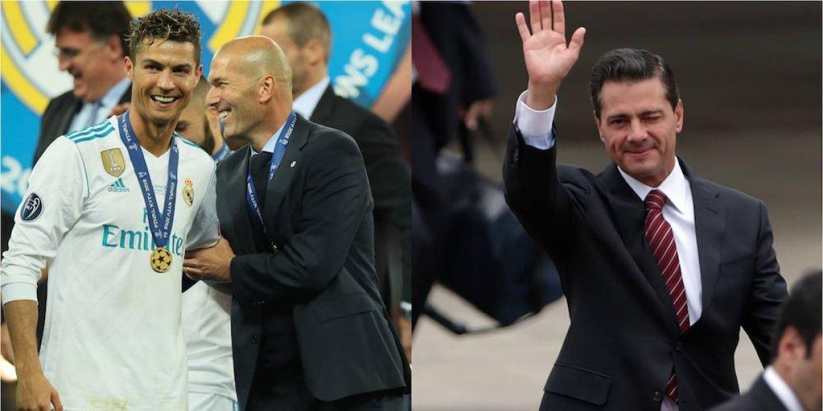 Cristiano Ronaldo y Zinedine Zidane tienen como vecino a Enrique Peña Nieto