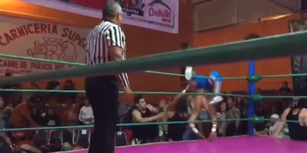 Ángel Azteca Jr. sufre terrible lesión durante lucha