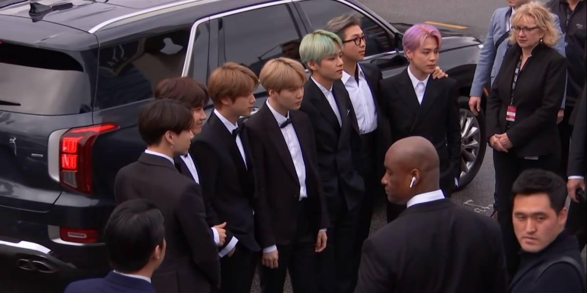 Confira como foi a chegada incrível do Grupo BTS ao Grammy 2019
