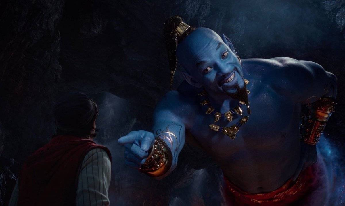 Will Smith como el genio en Aladdin