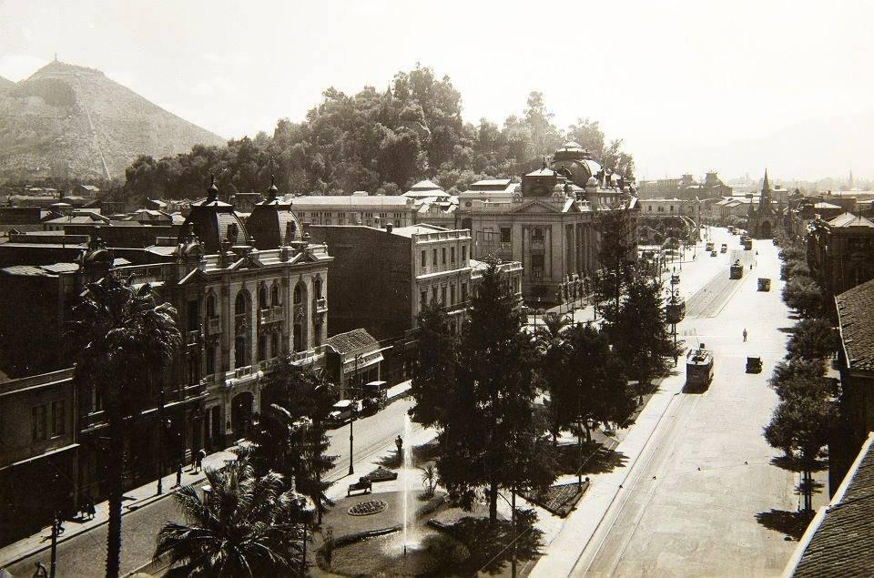 Vista de Santiago de Chile, año 1927.