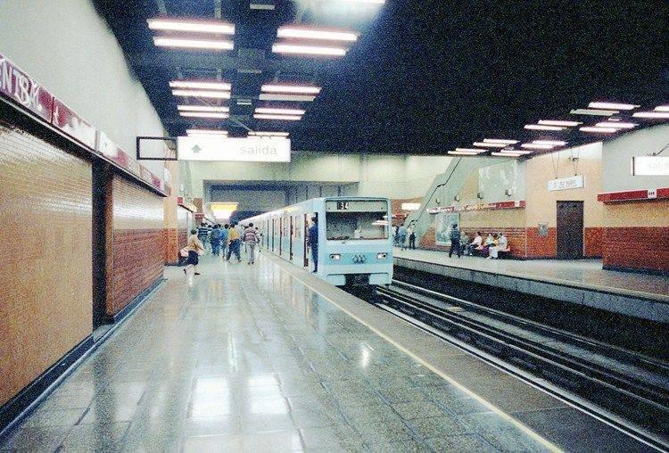 Metro Estación Central. Santiago de Chile, año 1995