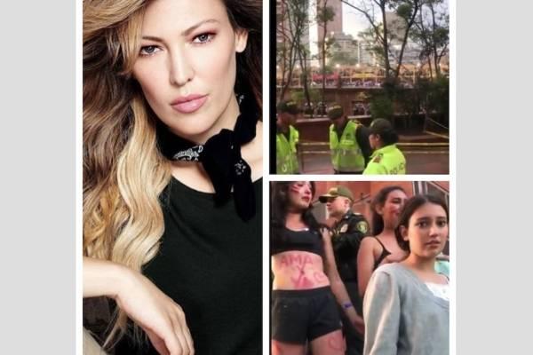 hijas de la actriz Natalia Durán fueron reprimidas por protestar contra las corridas de toros en Bogotá