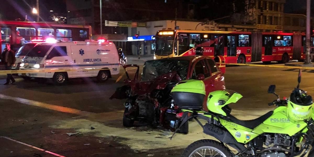 ¡Grave accidente entre un carro y bus de Transmilenio se presentó en el sur de Bogotá!