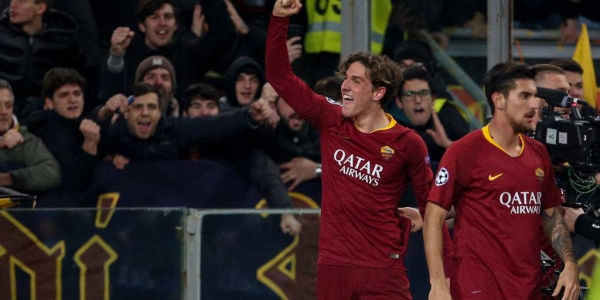 El prometedor Zaniolo brilló en el triunfo de la Roma sobre Porto por la Champions