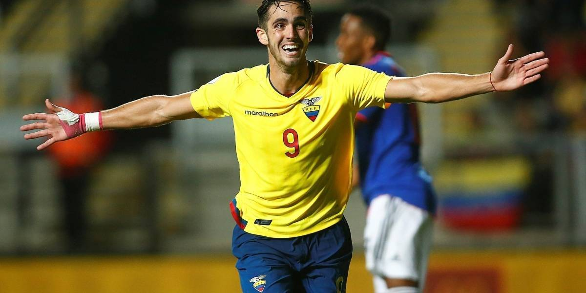 Leonardo Campana, goleador del Sudamericano Sub 20