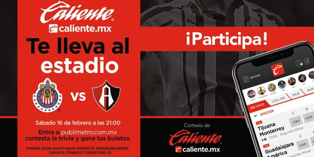 ¡Gana! pase doble para el partido Chivas vs Atlas