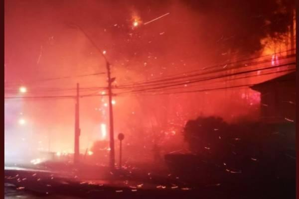 incendios forestales, Villa Italia