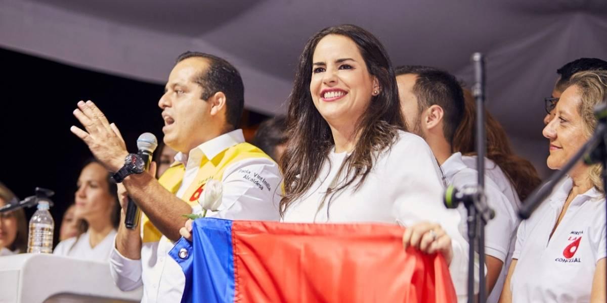Paola Vintimilla inició su campaña electoral en Calderón