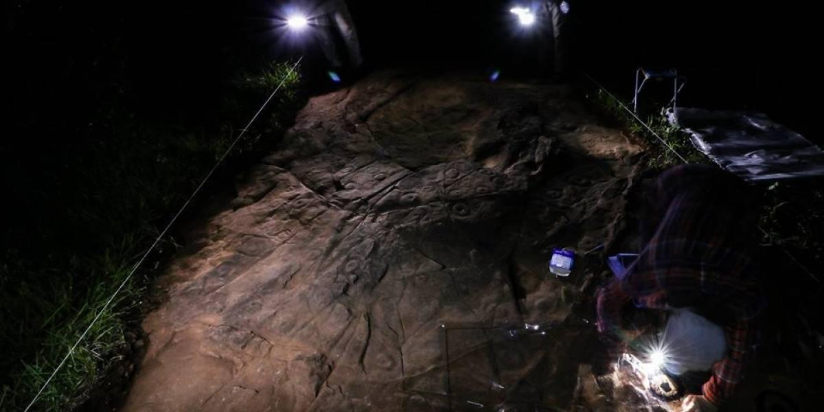 Arqueólogos descobrem arte rupestre de mais de 4 mil anos no Paraná