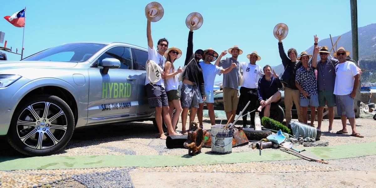 Volvo Cars Chile se sumerge a limpiar el mar de la Región de Valparaíso