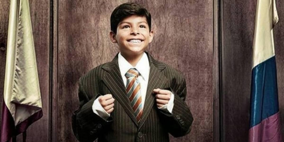 Él es Gabriel, el niño que interpreta a 'Luchito' en 'La gloria de Lucho'