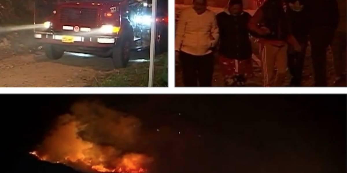 Por voraz incendio en Bogotá, al menos 300 personas tuvieron que salir de sus casas