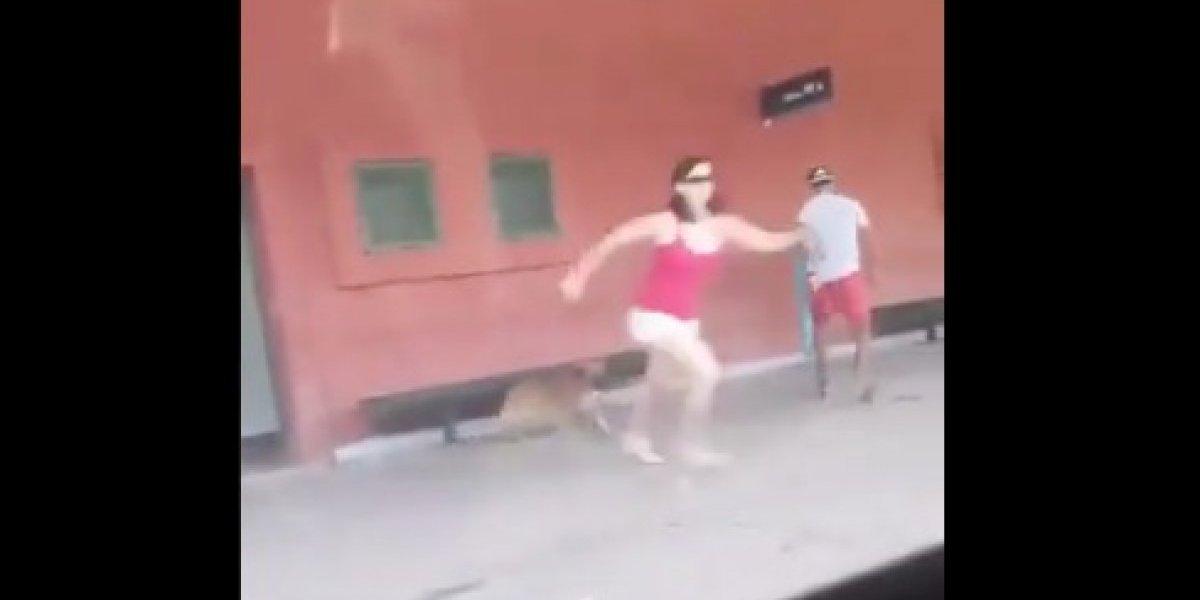 Cruel y cobarde: el desgarrador video del momento en que una mujer abandona a su perro en una estación de trenes