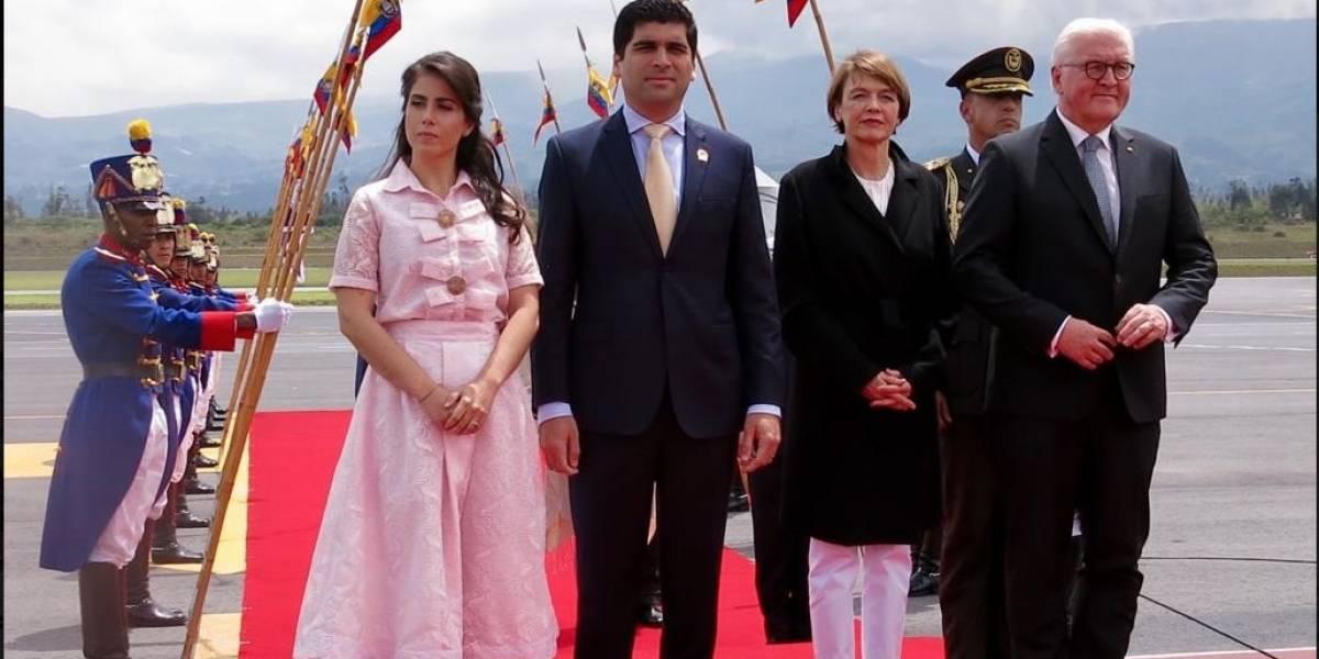 Presidente de Alemania, Frank-Walter Steinmeier está en Ecuador