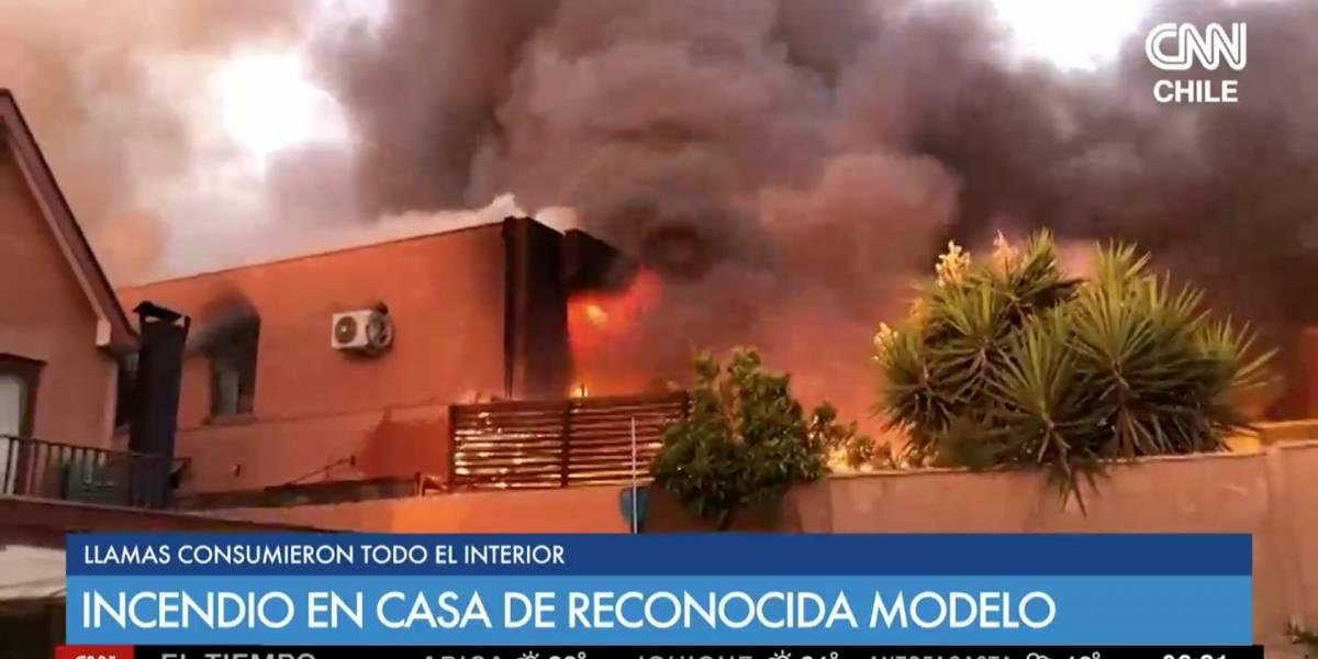 """Incendio consumió y destruyó la casa de María Laura Donoso: """"Se perdió todo"""""""