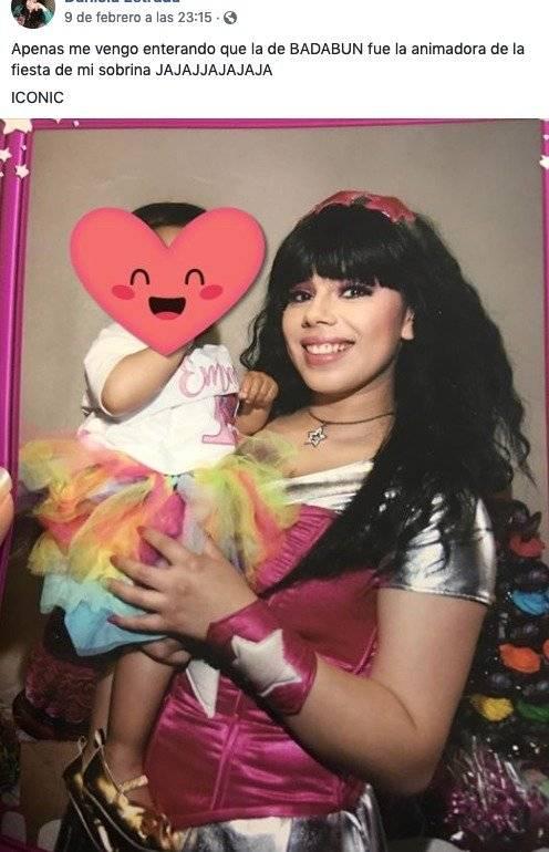 foto del pasado de la chica Badabun, Lizbeth Rodríguez