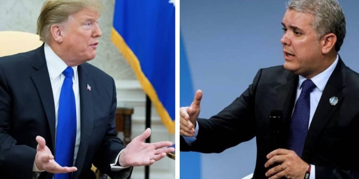 El crudo mensaje de Trump a Duque en su visita