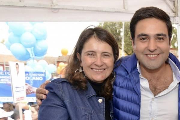 Paloma Valencia y Samuel Hoyos