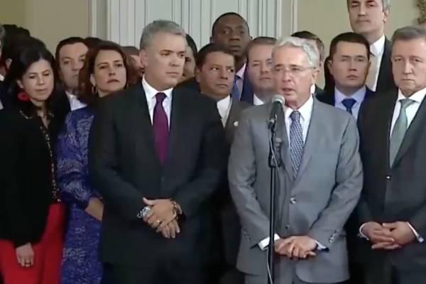 Iván Duque llamó presidente al senador Álvaro Uribe Vélez