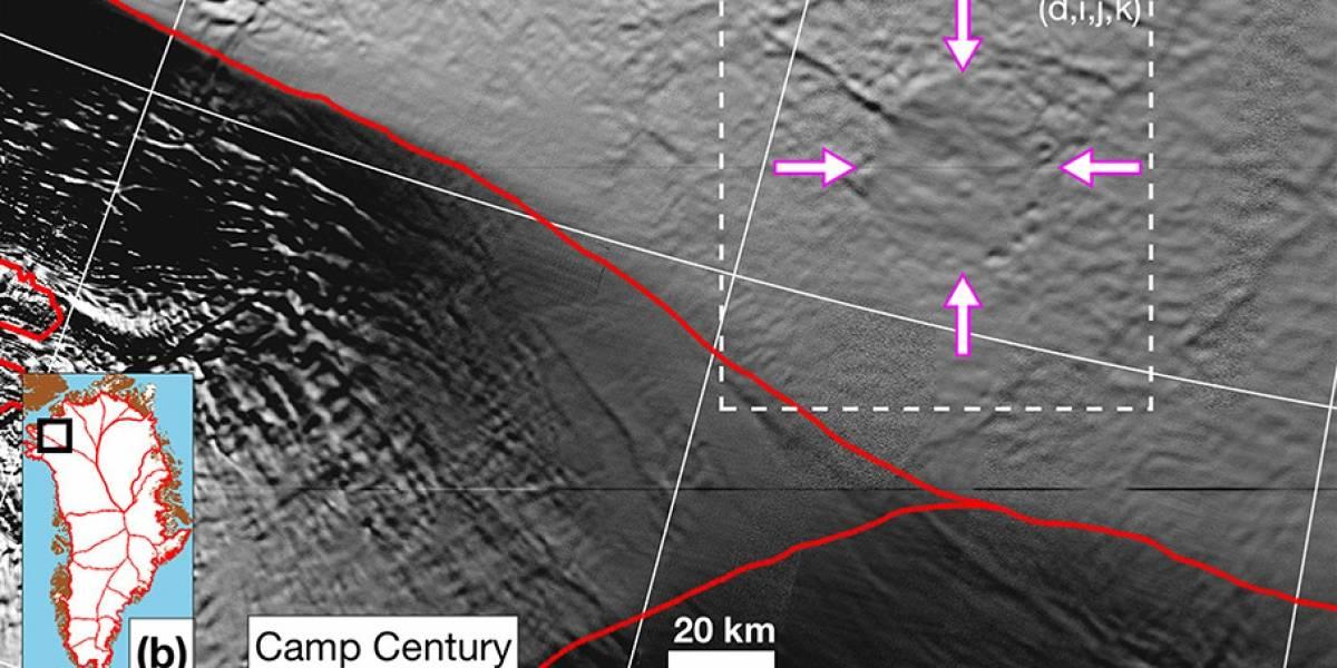 ¡Oculto bajo el hielo! Un segundo meteorito pudo caer en Groenlandia y dejar un gigantesco cráter