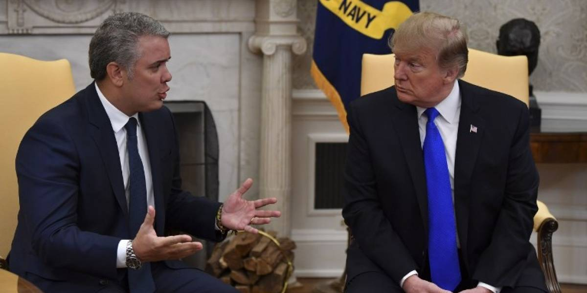 Durante su reunión con Duque, Trump reitera advertencias a Maduro