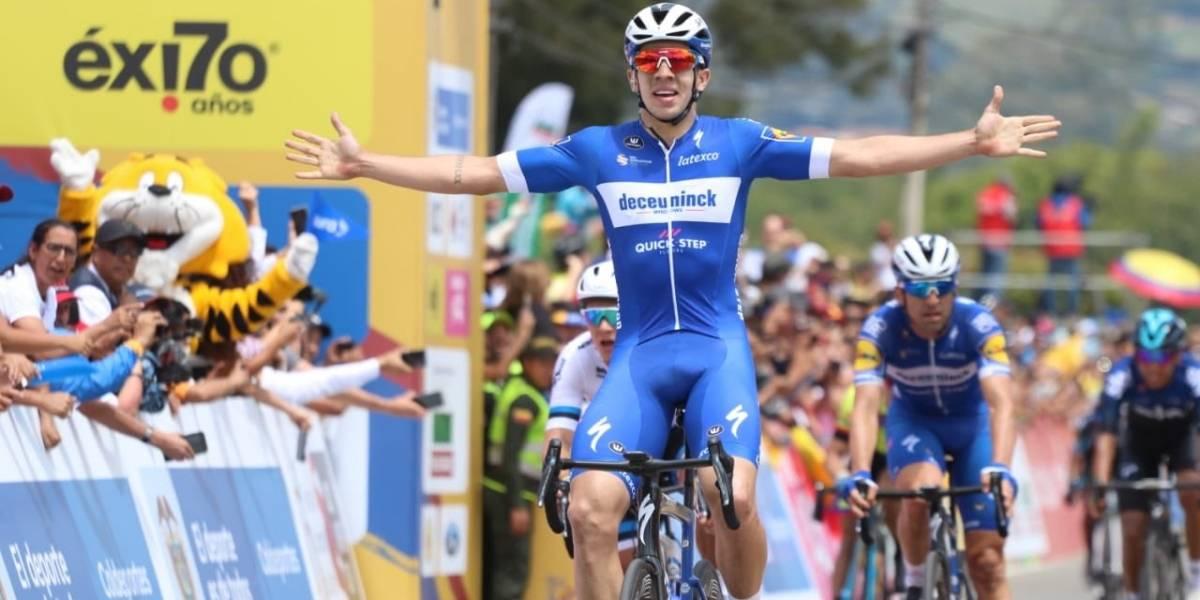 Álvaro Hodeg vuela en La Ceja y se sube a la punta del Tour Colombia 2.1