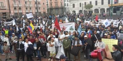Marcha en Quito