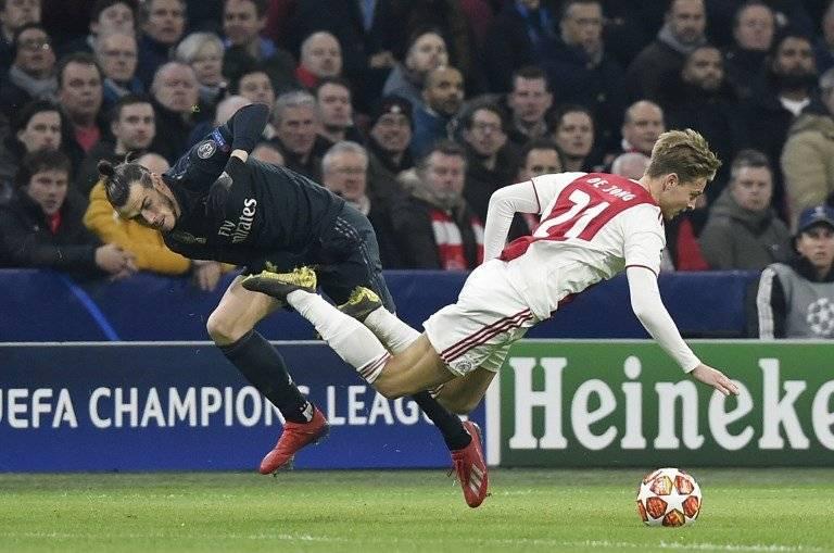 Las mejores acciones del partido Ajax-Real Madrid AFP