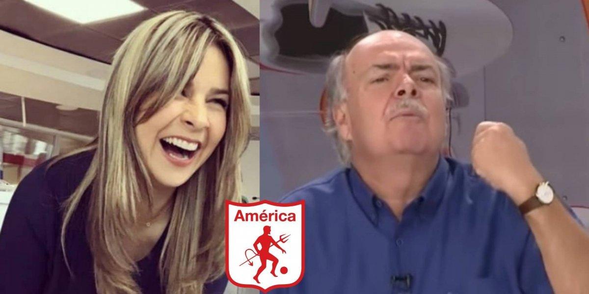 ¡Emocionados! Así celebraron Iván Mejía y Vicky Dávila el cumpleaños del América