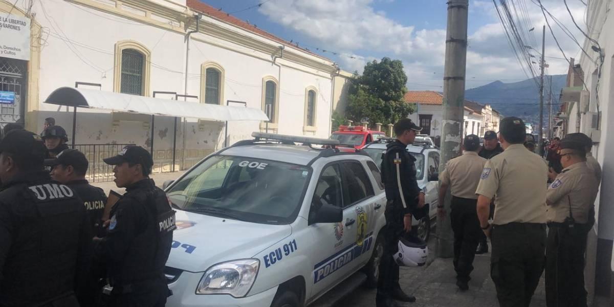 Un privado de libertad del Centro de Rehabilitación Social de Ibarra intentó fugarse