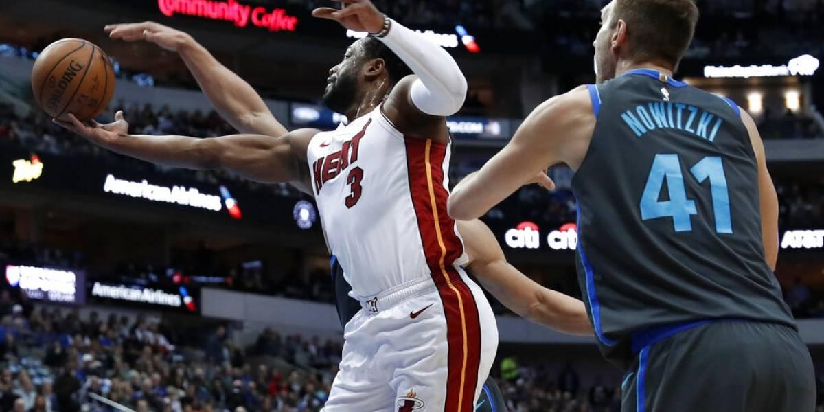 Dwyane Wade aporta al triunfo del Heat en su último encuentro contra los Mavs