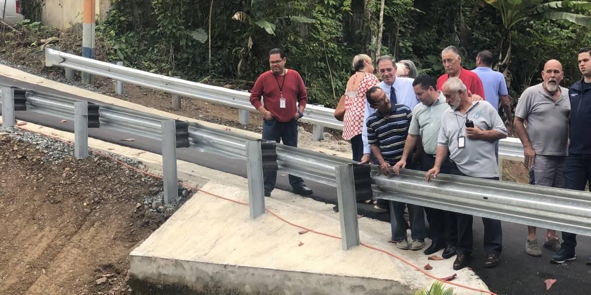 Inauguran puente que colapsó en Guaynabo durante el paso del huracán María