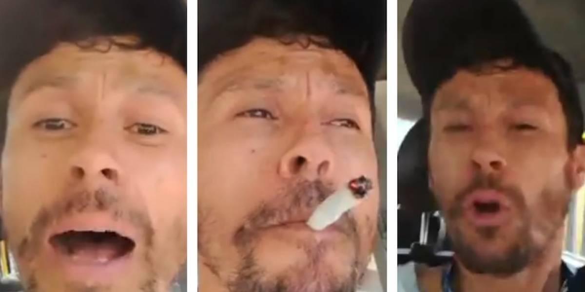 VIDEO: taxista fuma marihuana mientras conduce en Bogotá
