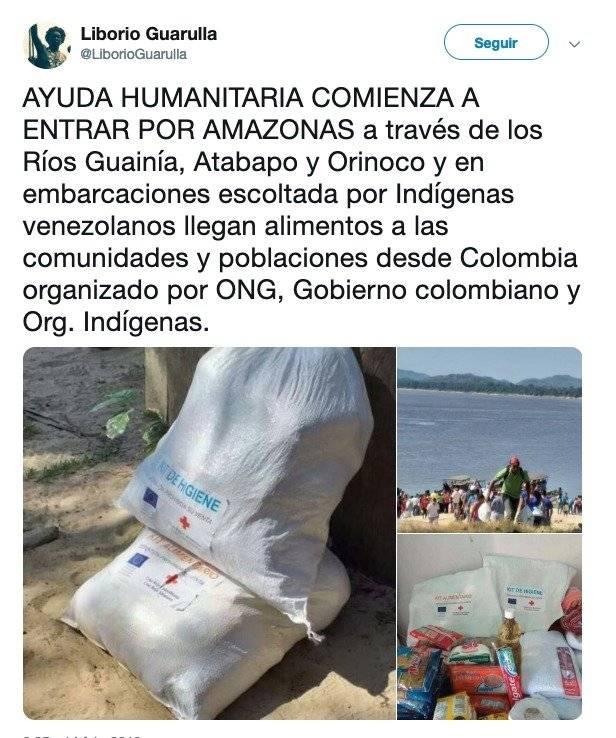 Exgobernador de Venezuela: Comenzó a entrar la ayuda humanitaria por el estado Amazonas