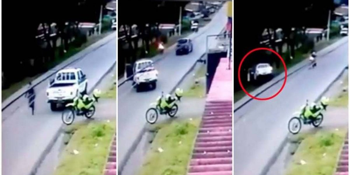 Por descuido de policías, dos ladrones se escaparon y la patrulla terminó en un barranco