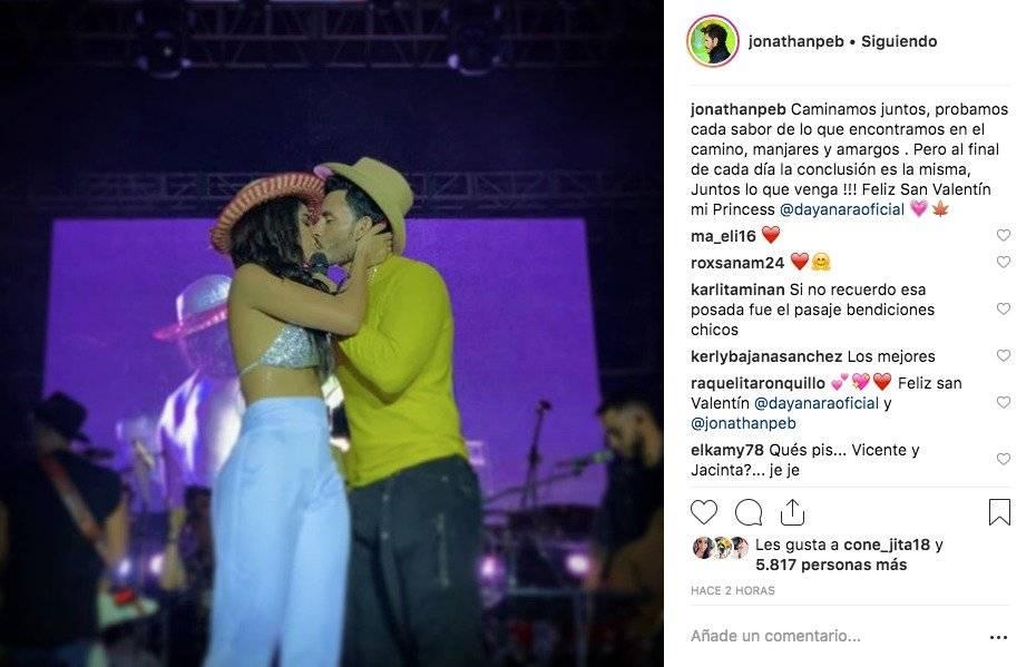 Dayanara Peralta y Jonathan Estrada Captura de pantalla