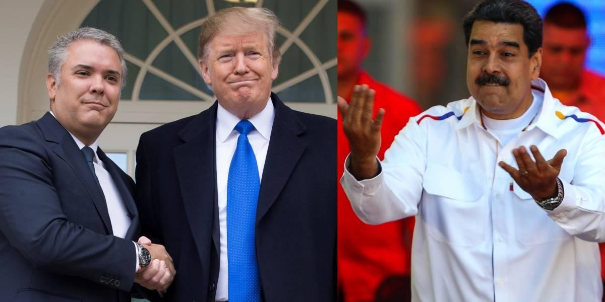 Con crudo y grosero calificativo, Maduro describe la reunión entre Duque y Trump