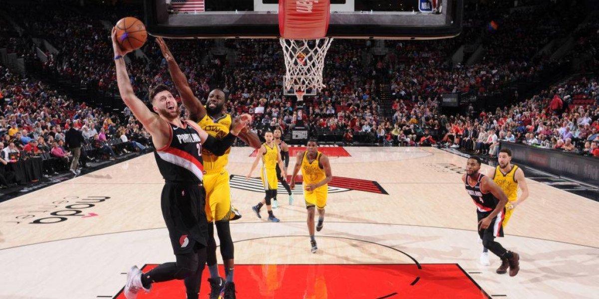 NBA: Golden State Warriors frenó su racha de triunfos tras caer ante Portland Trail Blazers