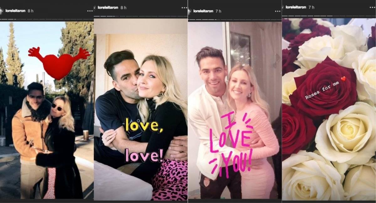 mensajes de Falcao García y Lorelei Tarón por día de San Valentín
