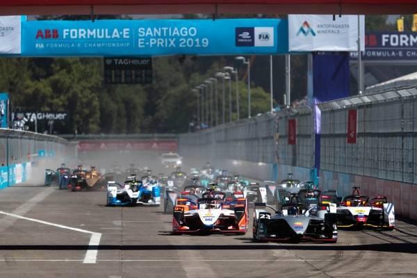 La carrera de Fórmula E en Santiago de Chile.