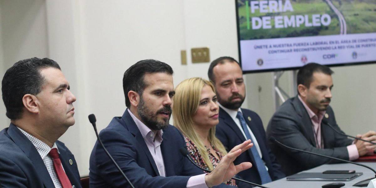 Rosselló anuncia feria de empleo para fuerza laboral en la reconstrucción de carreteras